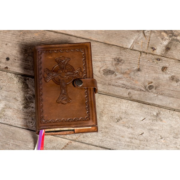 Embossed leather cover/heirloom cover