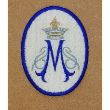 Marian Symbol with Crown Patch