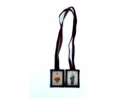 Brown Scapular with or without miraculous medal/crucifix & St Benedict's medal