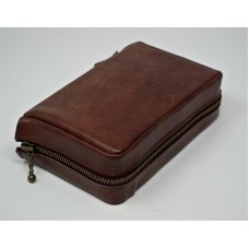 Zipped leather cover